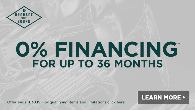 zero percent financing for up to 36 months. Offer ends 11.30.19. For qualifying items and limitations click here