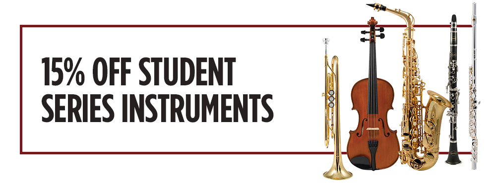 15% off student series intstruments