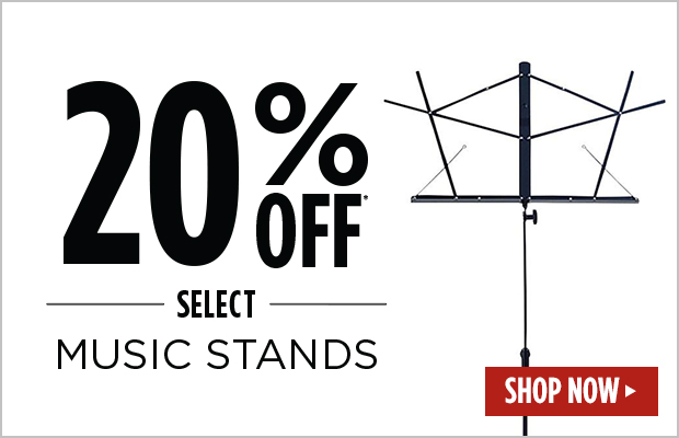 20% Off Select Music Stands