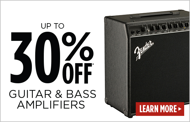 30% off select amplifiers