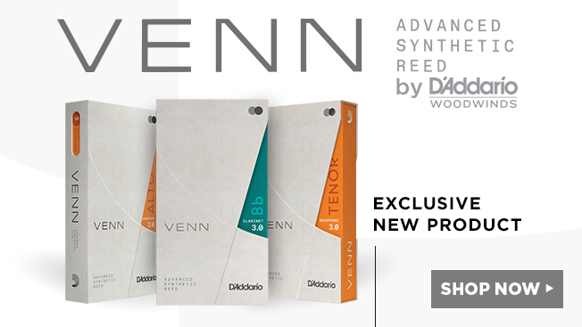venn advanced synthetic reeds by D'addario woodwinds. shop now.