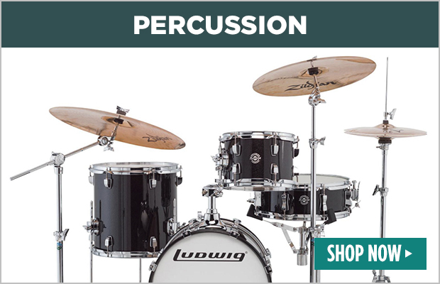 percussion. shop now