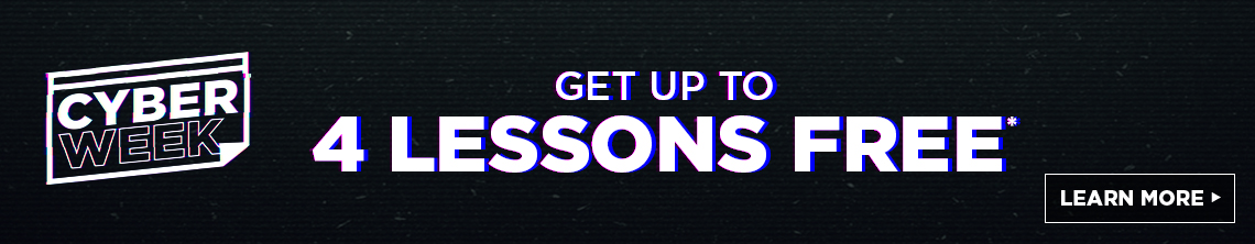 get up to 4 lessons free*