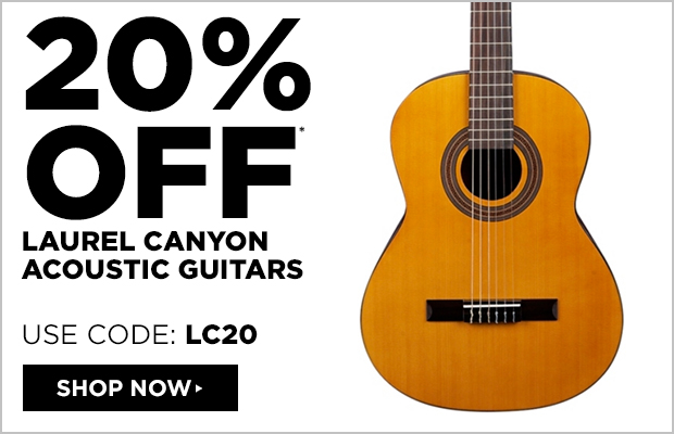 20% off Laurel Canyon Acoustic Guitars  Use Code: LC20