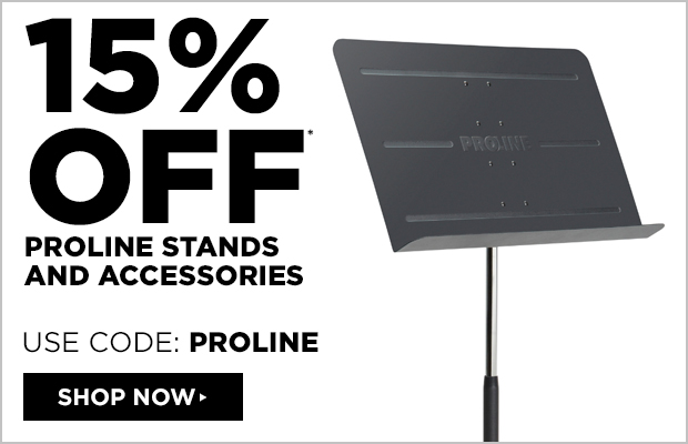 15% off Proline Stands and Accessories   Use Code: PROLINE