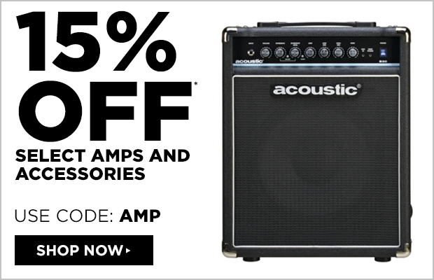 15% off select amps and accessories. Use Code: AMP