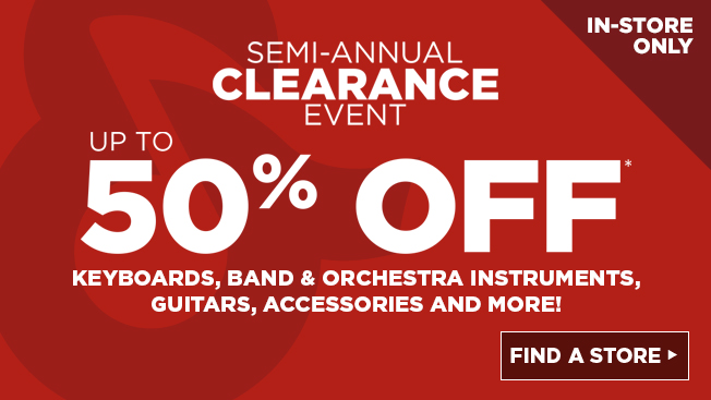 Semi Annual Clearance Event (In-Store Only)